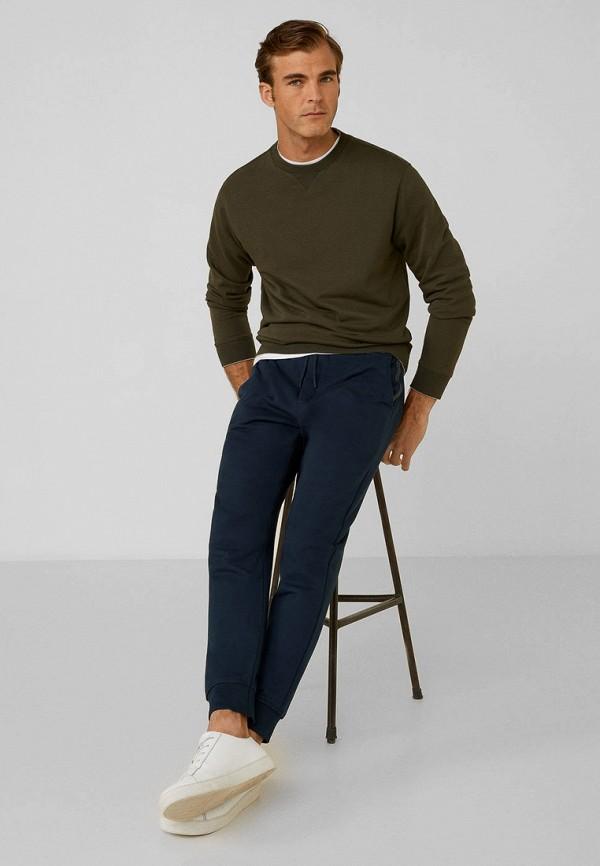 Фото 2 - Мужские спортивные брюки Mango Man синего цвета