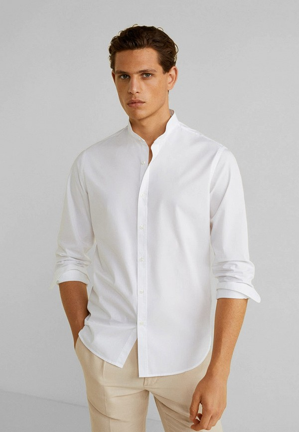 Фото - Мужскую рубашку Mango Man белого цвета
