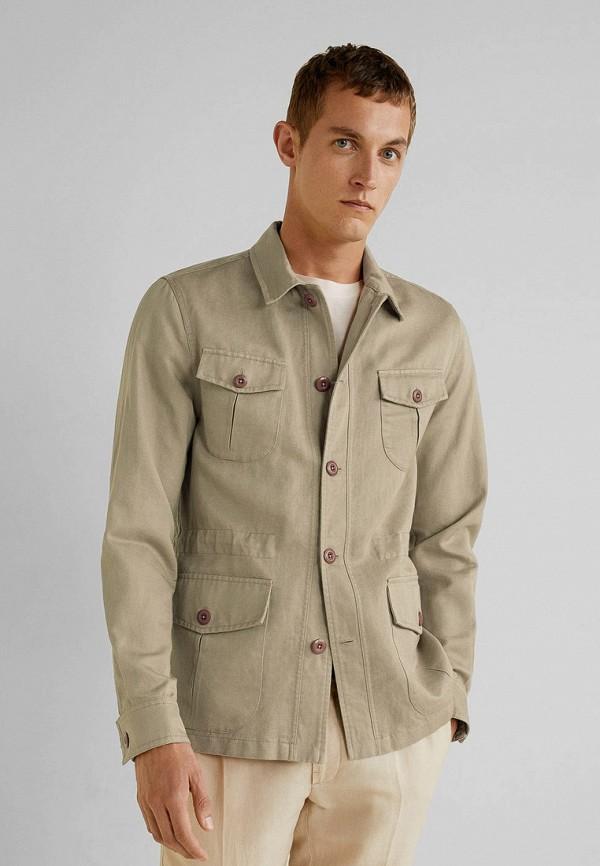 Фото - Мужскую куртку Mango Man бежевого цвета
