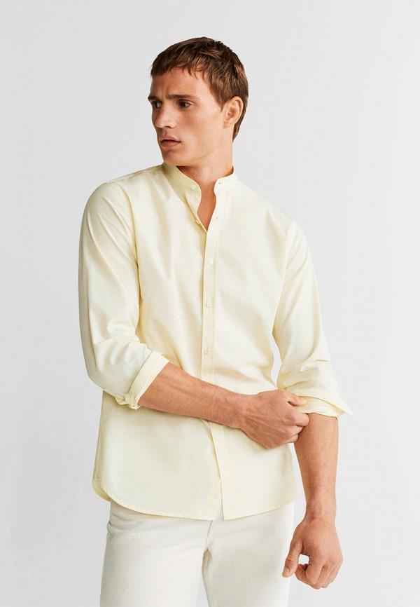 Фото - Мужскую рубашку Mango Man желтого цвета