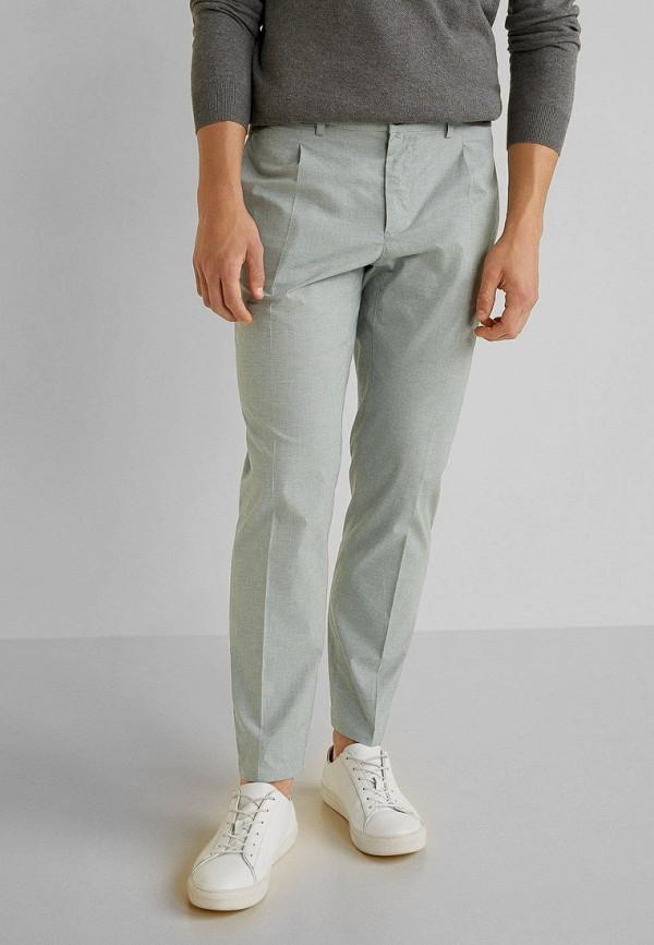 мужские классические брюки mango man, бирюзовые