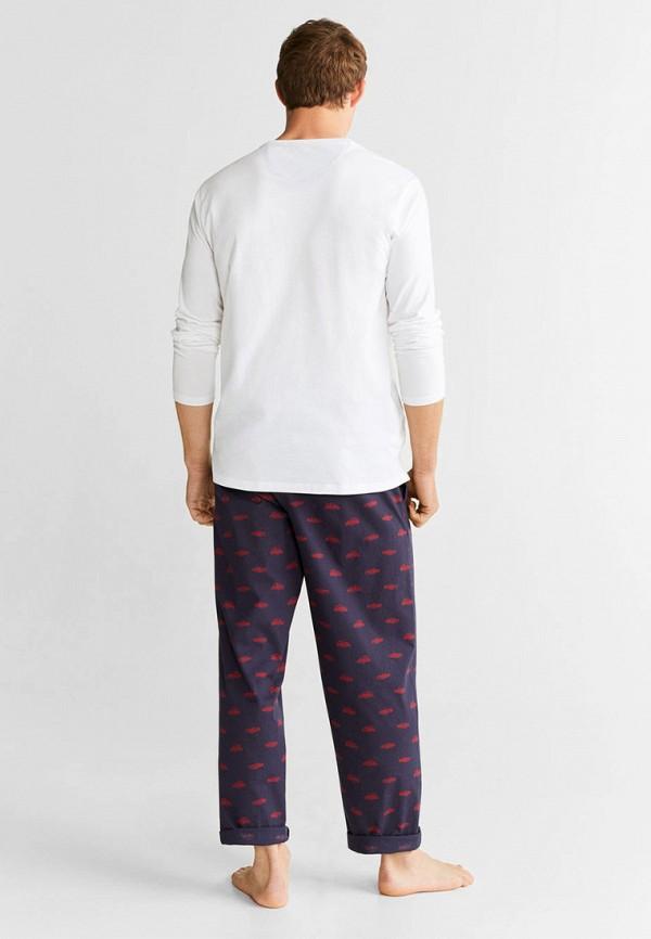 Фото 4 - Мужскую пижаму Mango Man разноцветного цвета