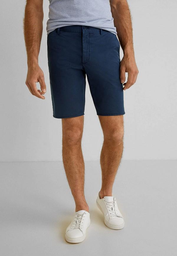 Фото - Мужские шорты Mango Man синего цвета