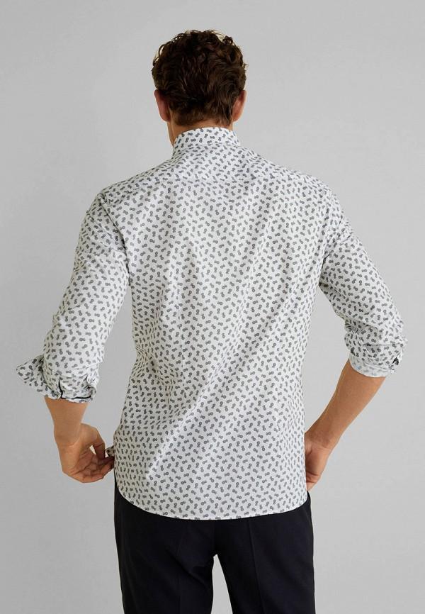 Фото 3 - мужскую рубашку Mango Man белого цвета