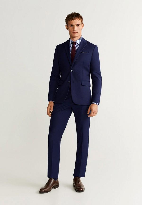 Фото 2 - мужскую рубашку Mango Man синего цвета