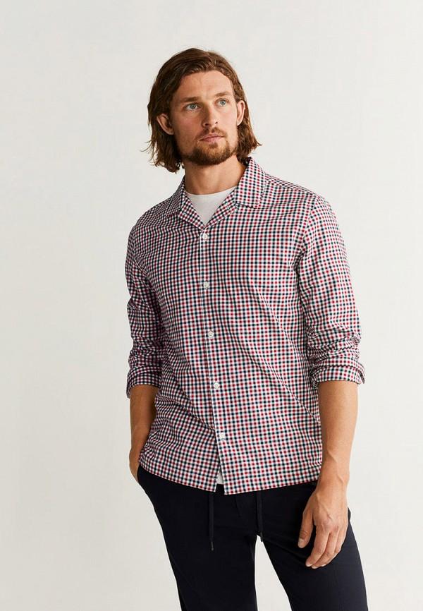 Фото - мужскую рубашку Mango Man разноцветного цвета