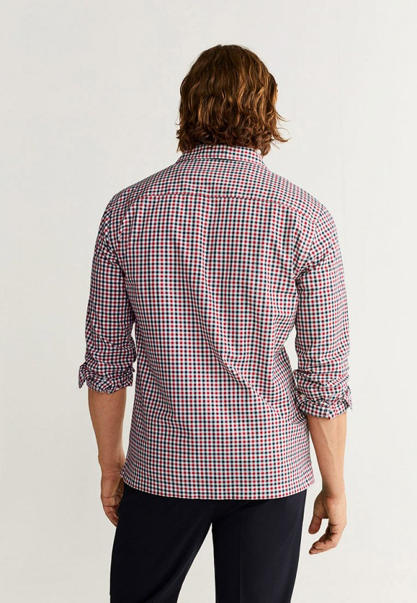 Фото 3 - мужскую рубашку Mango Man разноцветного цвета