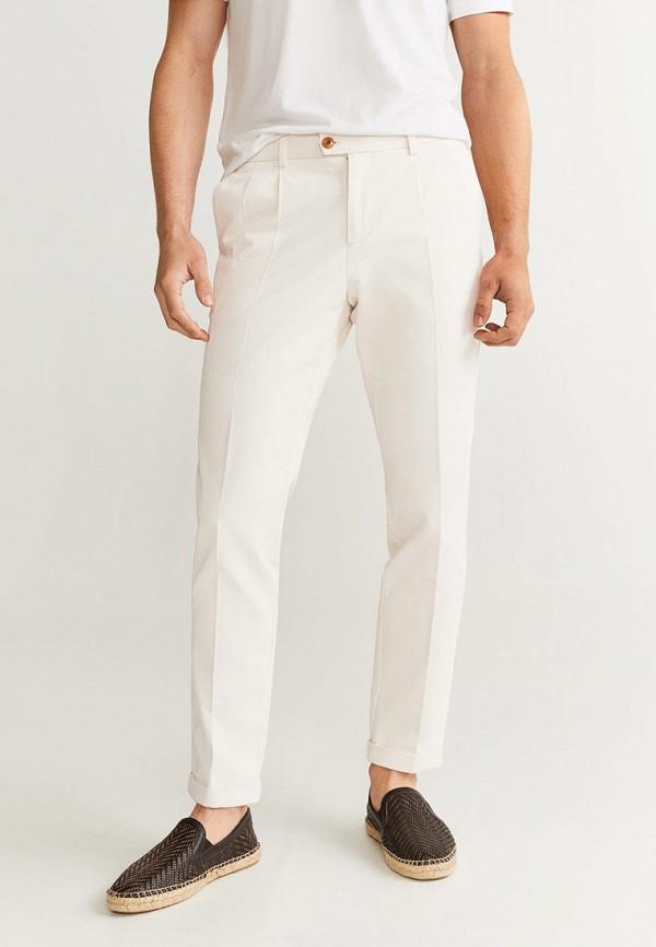 мужские повседневные брюки mango man, белые