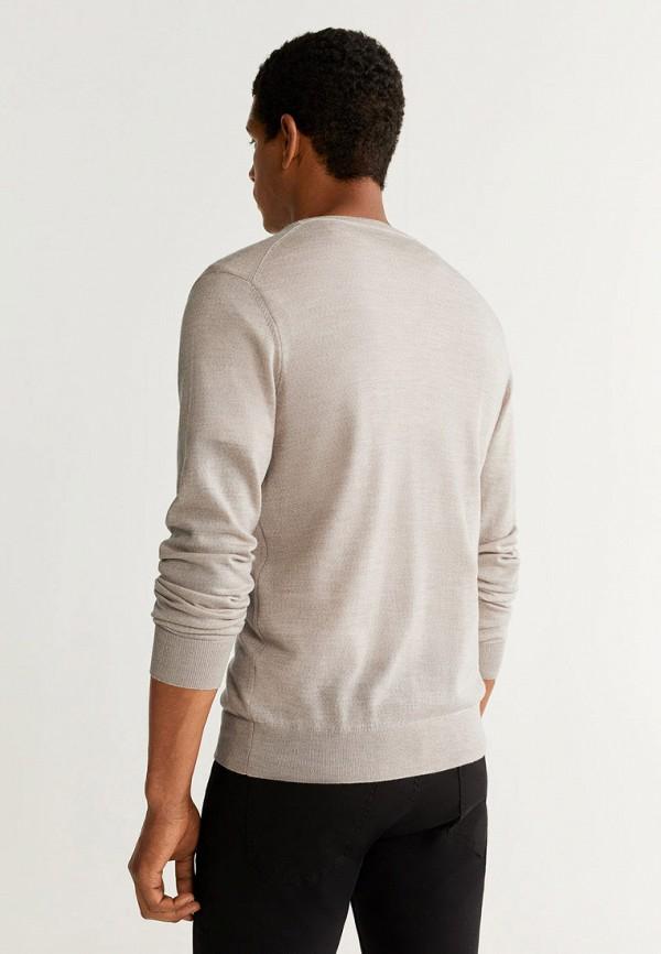 Фото 3 - мужской пуловер Mango Man бежевого цвета