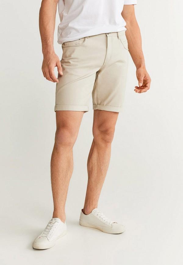 Фото - мужские шорты Mango Man бежевого цвета
