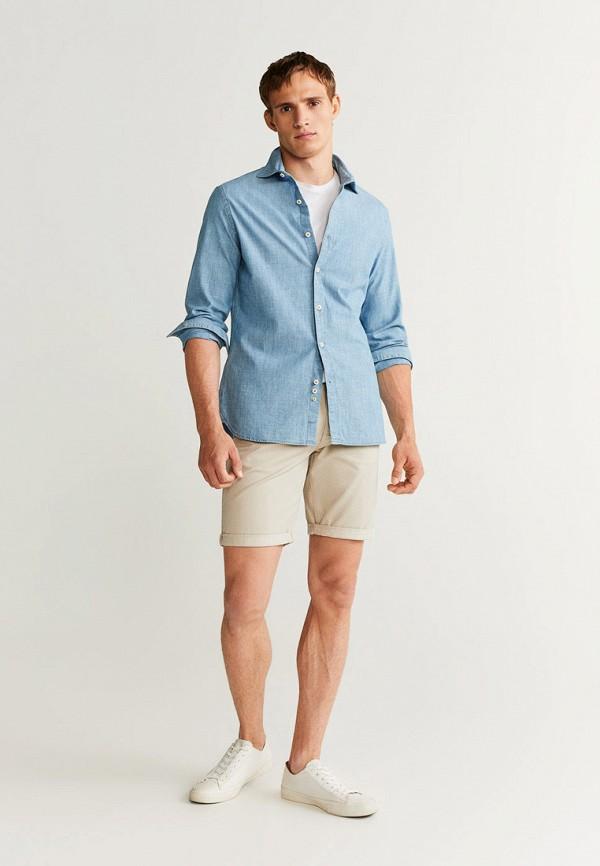 Фото 2 - мужские шорты Mango Man бежевого цвета