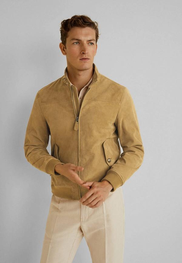 мужская куртка mango man, желтая