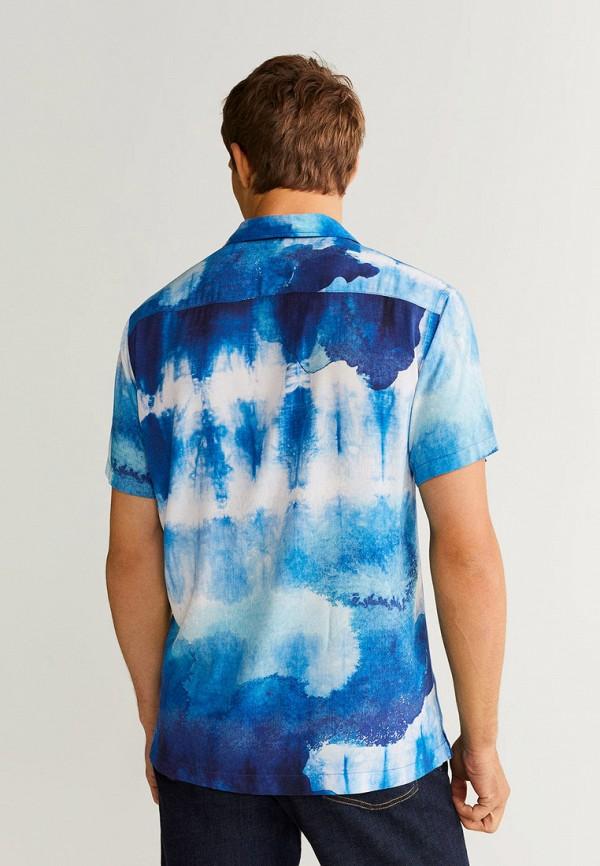 Фото 3 - мужскую рубашку Mango Man синего цвета