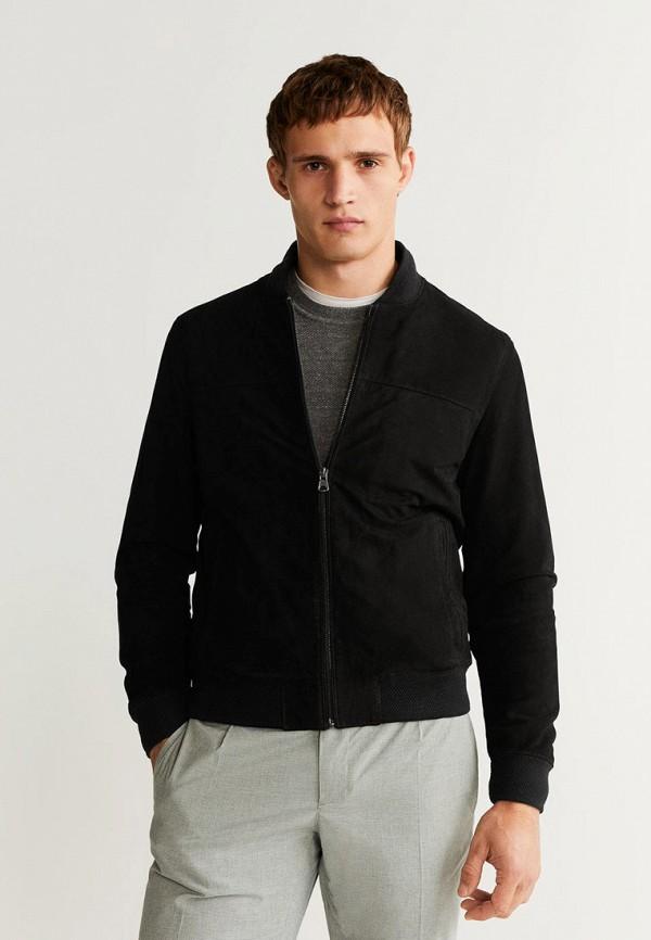 мужская куртка mango man, черная