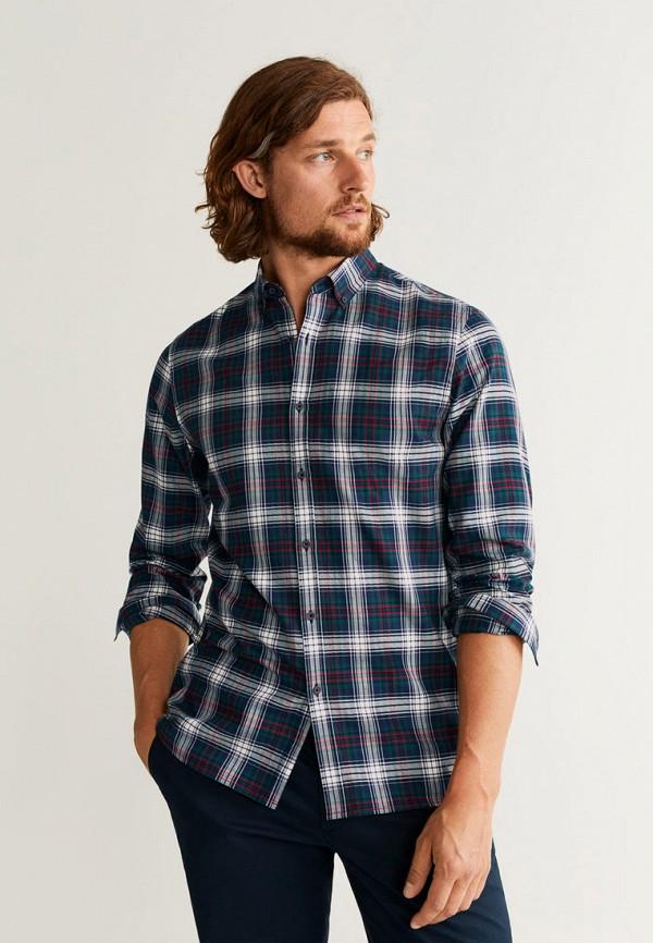 мужская рубашка mango man, синяя