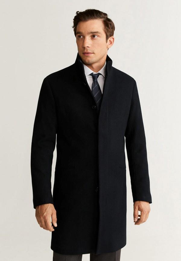 мужское пальто mango man, черное