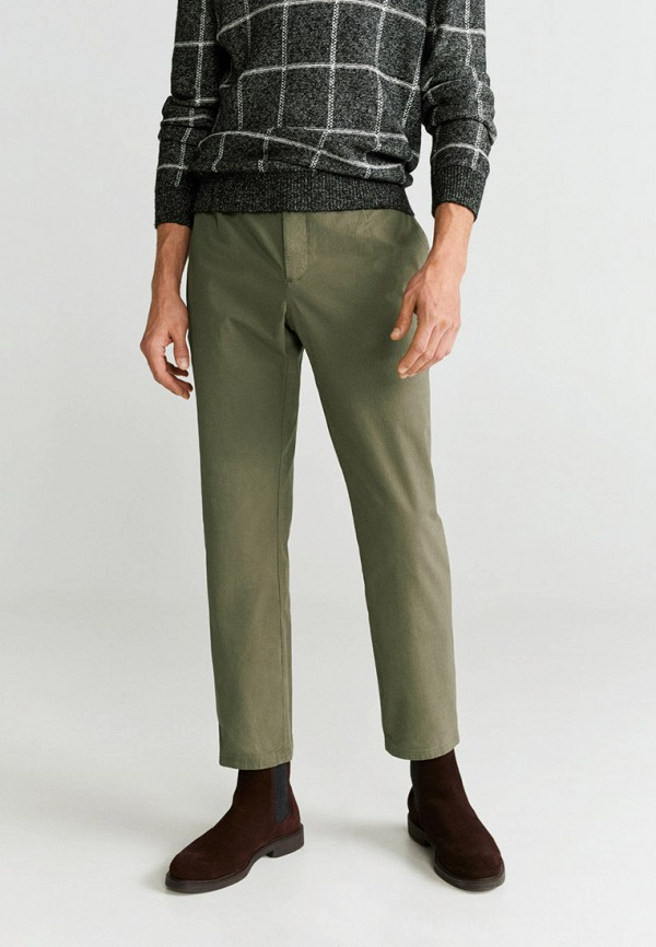 Фото - мужские брюки Mango Man цвета хаки