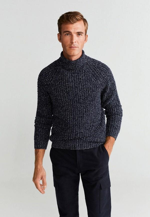 Фото - мужской свитер Mango Man синего цвета