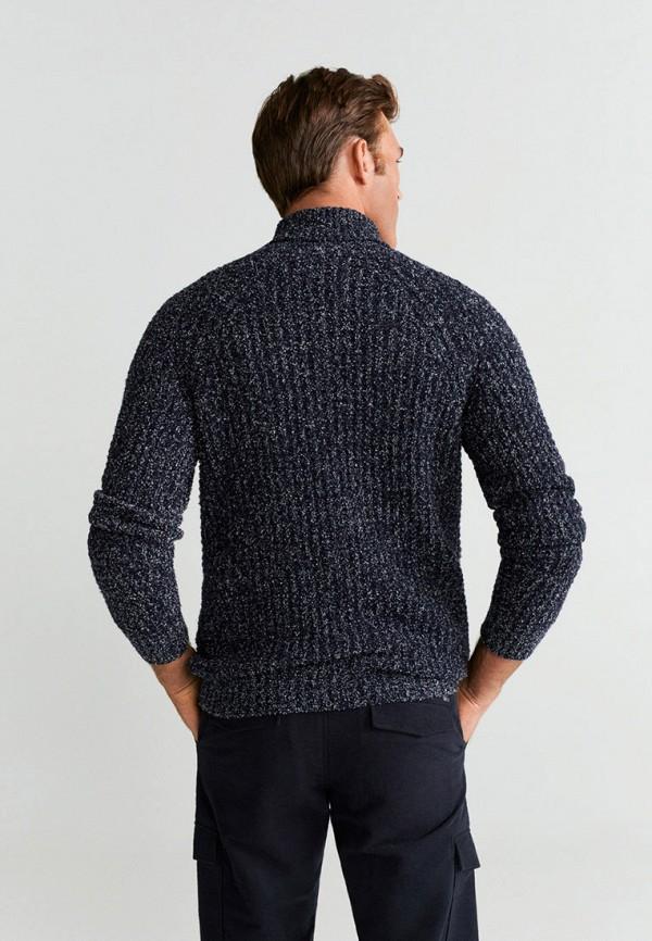 Фото 2 - мужской свитер Mango Man синего цвета