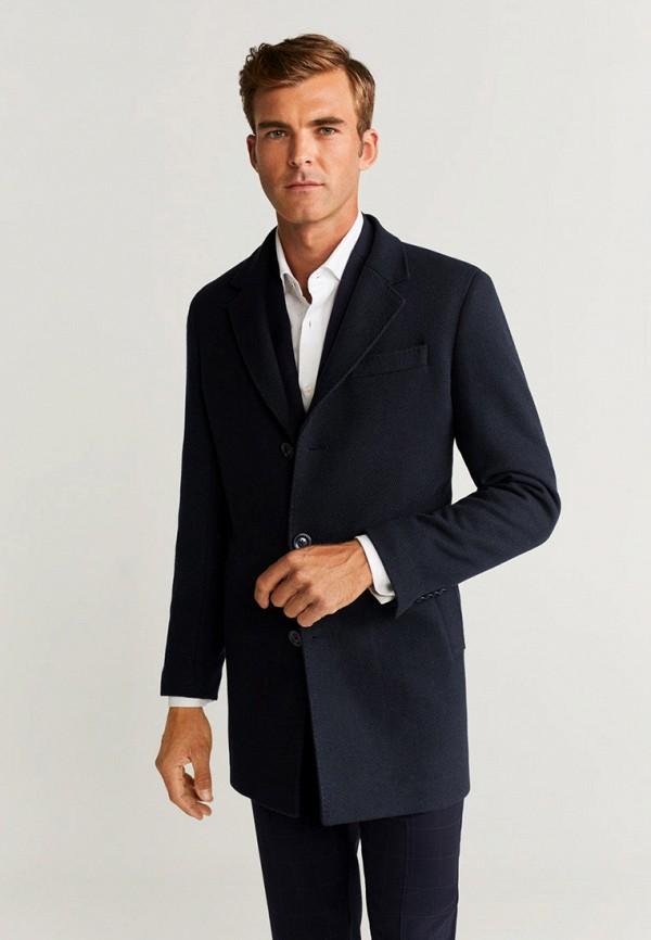 мужское пальто mango man, синее