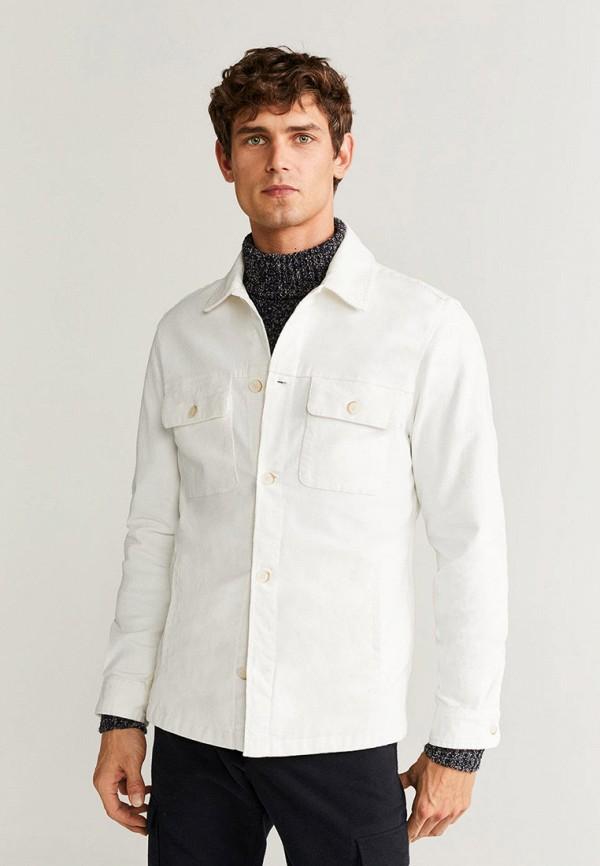 мужская куртка mango man, белая