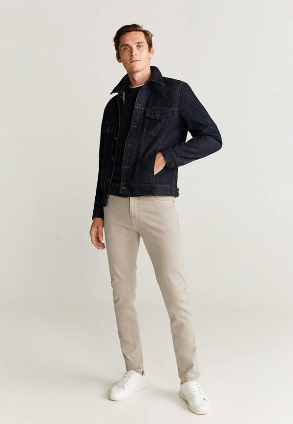 Фото 2 - мужские джинсы Mango Man бежевого цвета