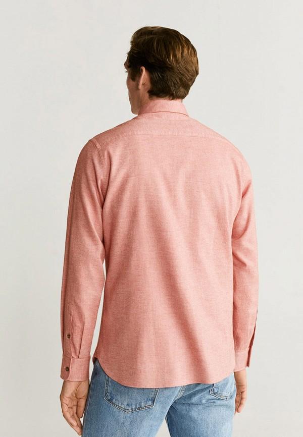 Фото 3 - мужскую рубашку Mango Man оранжевого цвета