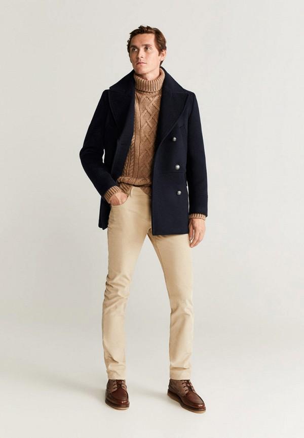 Фото 2 - мужское пальто или плащ Mango Man синего цвета