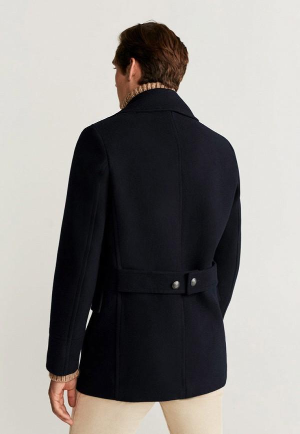 Фото 3 - мужское пальто или плащ Mango Man синего цвета