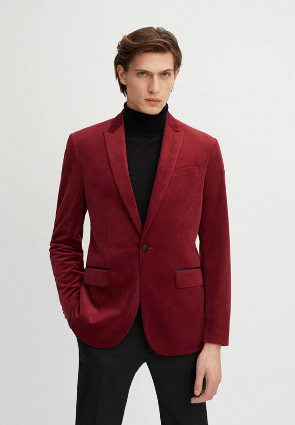 мужской пиджак mango man, красный