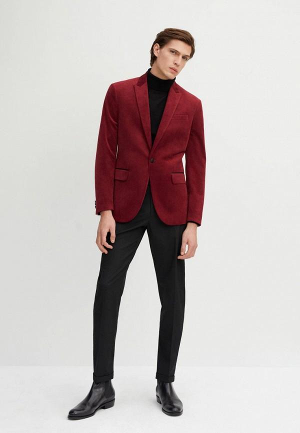 Фото 2 - мужской пиджак Mango Man красного цвета