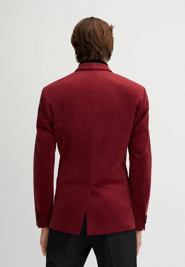 Фото 3 - мужской пиджак Mango Man красного цвета