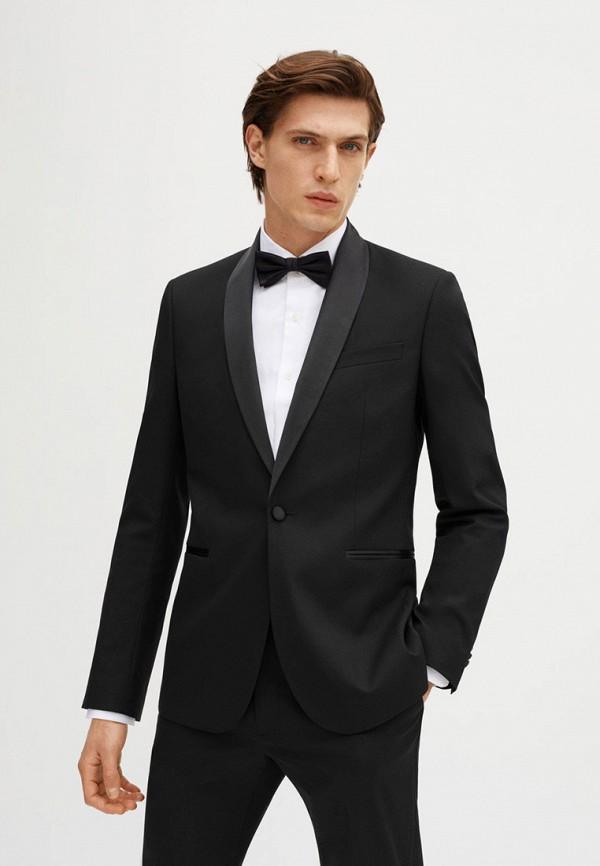 мужской костюм mango man, черный