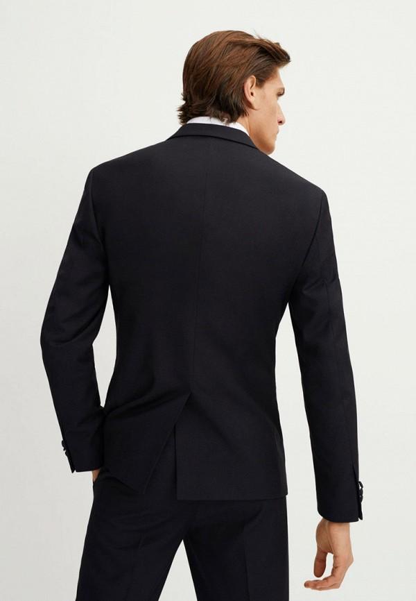 Фото 2 - мужской пиджак Mango Man черного цвета