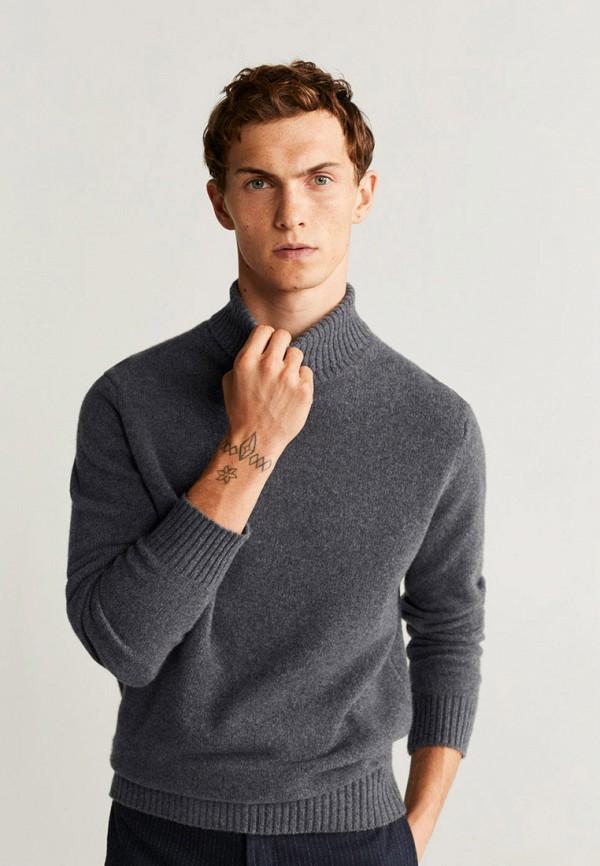 мужской свитер mango man, серый