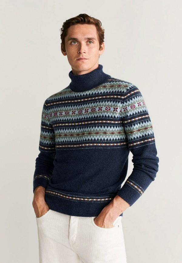 мужской свитер mango man, синий