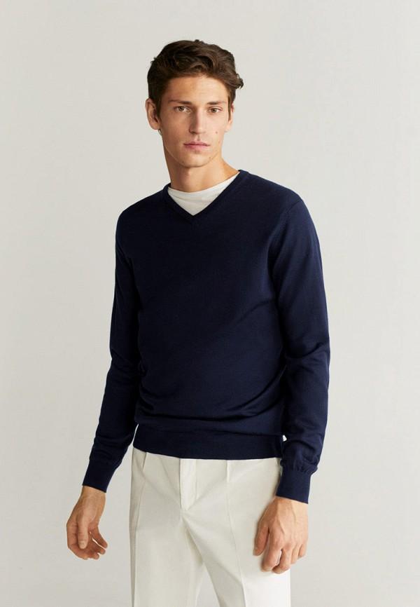 мужской пуловер mango man, синий