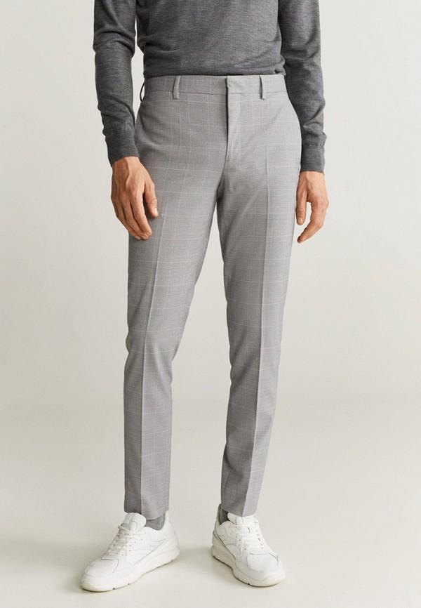 мужские классические брюки mango man, серые