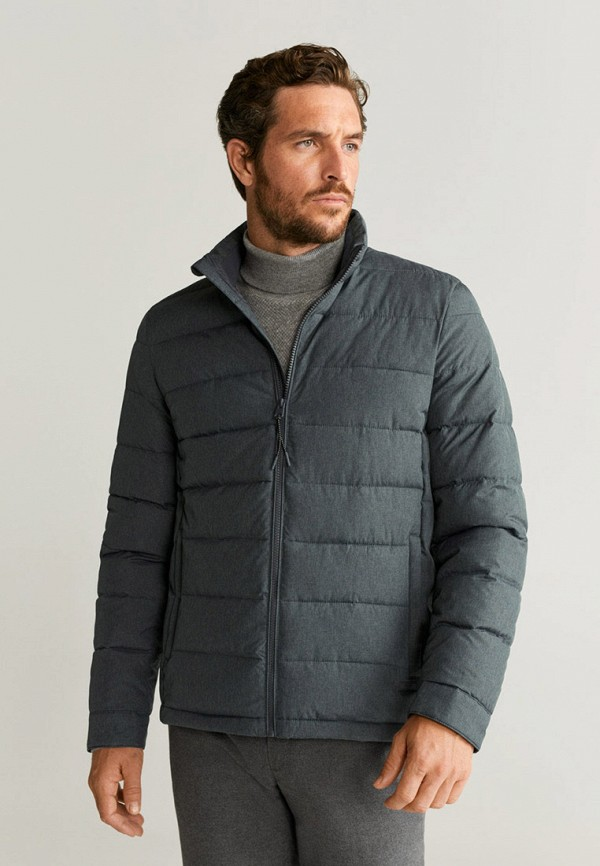 мужская утепленные куртка mango man, серая