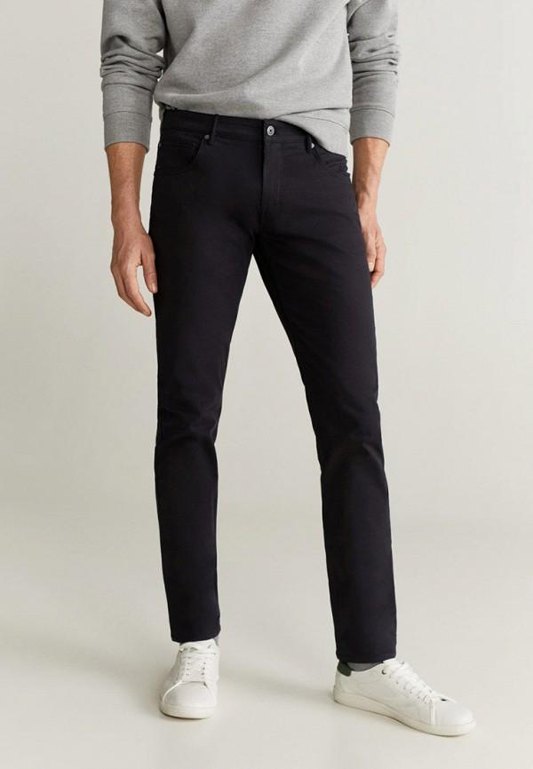 мужские повседневные брюки mango man, черные