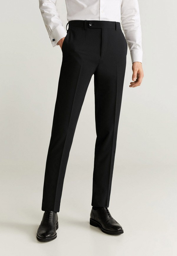 мужские классические брюки mango man, черные