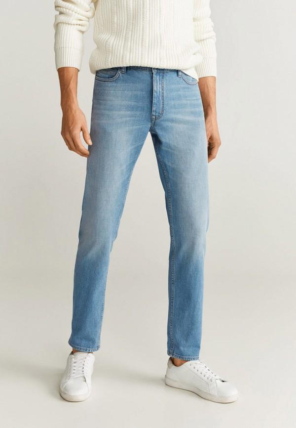 мужские прямые джинсы mango man, голубые