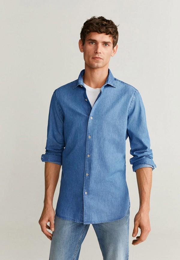 Рубашка джинсовая Mango Man Mango Man HE002EMIEGG1 рубашка mango man mango man he002emfegl2