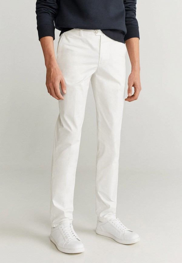 мужские брюки чинос mango man, белые