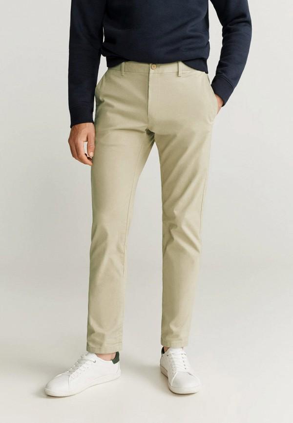 мужские брюки чинос mango man, бежевые