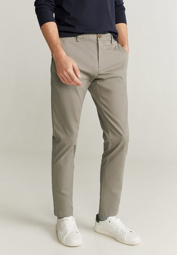 мужские брюки чинос mango man, серые