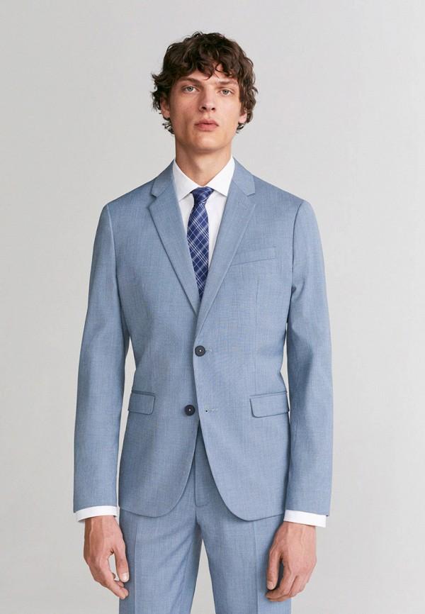 мужской пиджак mango man, голубой