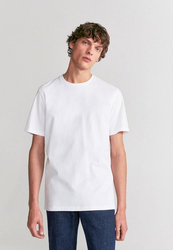 мужская футболка mango man, белая