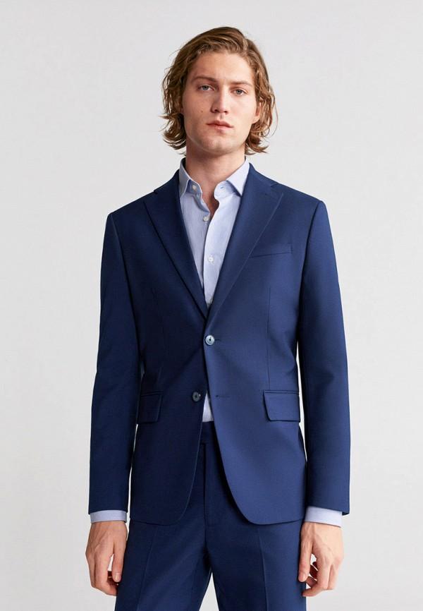 мужской пиджак mango man, синий