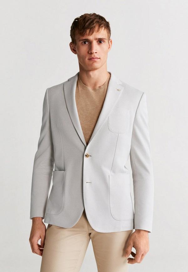 мужской пиджак mango man, серый